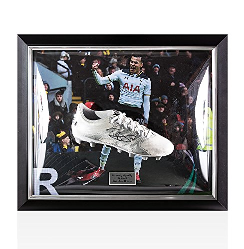 Framed-Dele-Alli-Signed-Football-Boot-White-Adidas-X-154-Tottenham-Hotspur