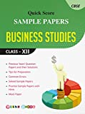 Quick Score Sample Papers Business Studies Class - XII