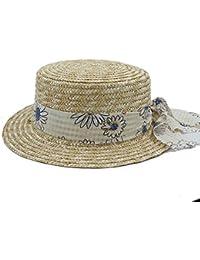 Hat Cappello – paglietta Flat Top per donna feltro Fedora a tesa larga  Laday Prok Pie d36fc80b2b54