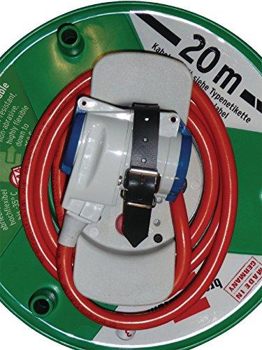 Eurosell Schutzkontakt-Verlängerungskabel Kabeltrommel aussen IP44 Typ F (CEE 7/4) - Typ F (CEE 7/3) 20.0 m Rot