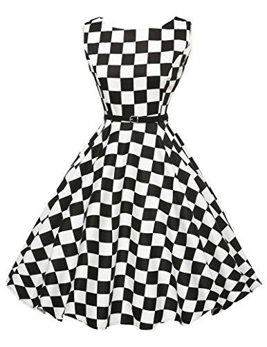 einzigartig rockabilly kleid sommerkleid a linie festliches kleid karnevalskostüm Größe L CL6086-10 (Karnevalskostüme)