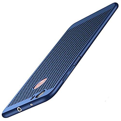 Preisvergleich Produktbild Huawei P8 Lite 2017 Hülle Ultra Dünn Mesh Design Wärmeableitung Stoßfest Hartcase Schutzhüllen für Huawei P8 Lite 2017 5.2 zoll (Blau)
