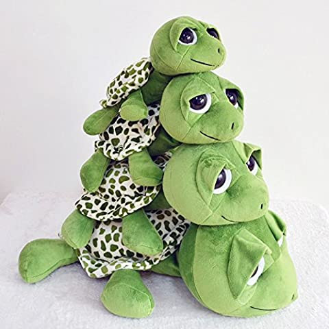 Segurry 1pcs Cute Funny Tummy Tortoise Stuffed Turtle Toy Hold Pillow Big Eyes Turtle Pillow Cushions Plush Toy Doll Pillow Pet Gift for baby infant toddler preschooler Army Green 20CM 25CM 40CM