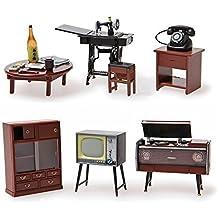 Odoria 1/24 Miniatura 1 Set Antiguo Muebles Japoneses para Casa de Muñecas