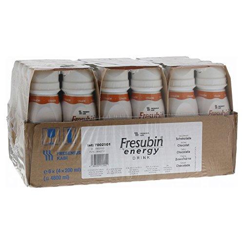 Fresubin energy DRINK, 6X4X200 ml , Schokolade (Aroma-wasser-flasche)