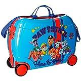 Paw Patrol Valigia Trolley cavalcabile per Bambini, 50 cm, 34 Litri, Azzurro