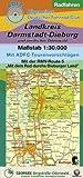 Radfahren - Landkreis Darmstadt-Dieburg und nördlicher Odenwald: Maßstab 1:30.000. Mit ADFC-Tourenvorschlägen. Mit der RMV-Route 5 'Mit dem Rad durchs Dieburger Land'