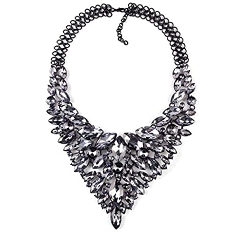 High-End-Luxus Halskette exquisite Diamant-Halskette Damen , dark gray