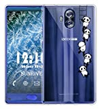 Für DOOGEE MIX Lite Hülle Silikon,Sunrive Transparent Handyhülle Schutzhülle Etui Case Backcover für DOOGEE MIX Lite 5,2 Zoll(tpu Panda 1)+Gratis Universal Eingabestift