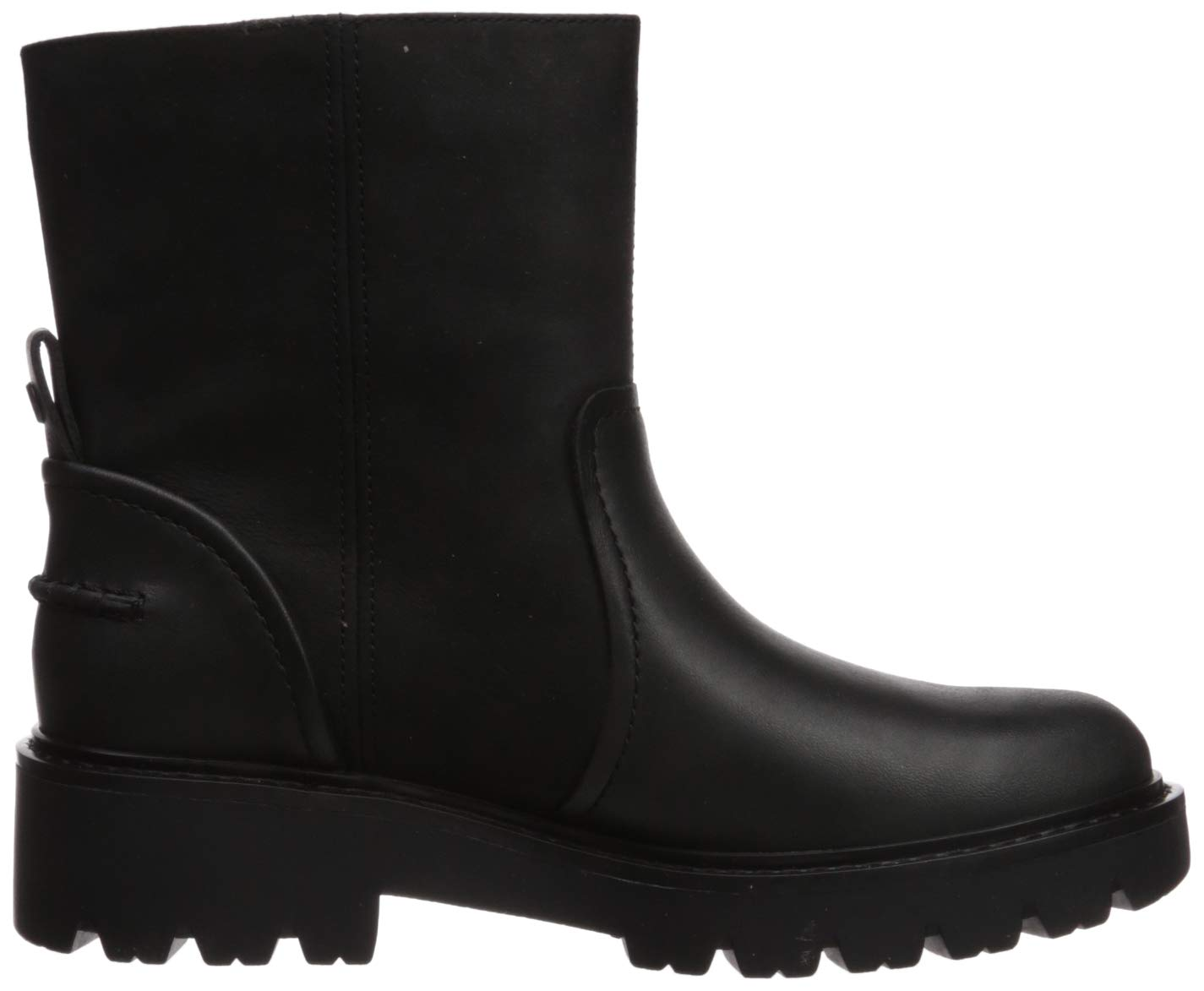 UGG Women's Polk Combat Boot, Black, 7.5 M US 7