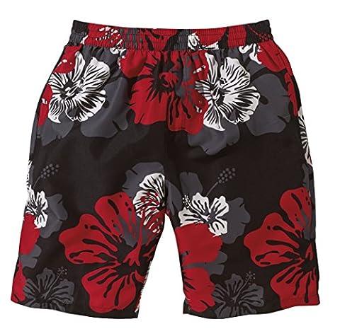 Beco fleurs short pour homme L Multicolore - Noir/rouge/gris