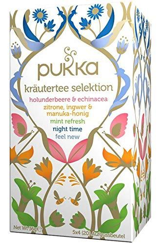 Ingwer Echinacea Tee (PUKKA Bio Kräutertee Selektion, 1er Pack (20 x 1,7 g Teebeutel) - BIO)