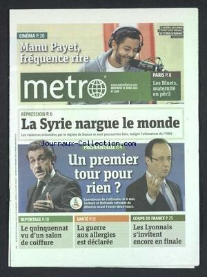 METRO [No 2193] du 11/04/2012 - MANU PAY...