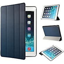 iPad Air 2 Hülle, EasyAcc Ultra Slim Cover Schutzhülle Bumper Lederhülle mit Standfunktion / Auto Sleep Wake Up Funktion für iPad Air 2 2014 Modell Number A1566/ A1567 - Dunkelblau, Ultra Slim