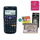 Casio FX-82DE Plus + Geometrie-Set + Lern-CD (auf Deutsch) + Erweiterte Garantie