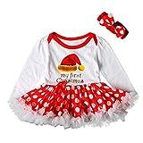 Babykleidung,Sannysis 2Pcs Säugling Baby Mädchen Langarm-Weihnachtsbaum Snowflake Print Overall Lace Tutu Rock + Haarband Zweiteiler