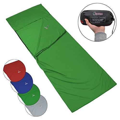 ALPIDEX Polycoton Drap de Sac de Couchage rectangulaire pour Le Camping et Le Voyag