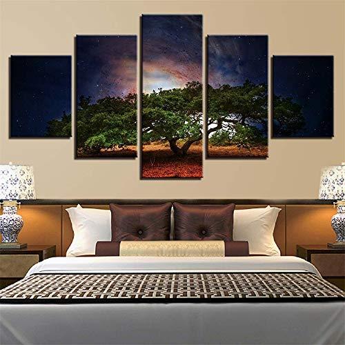 Malerei,Wulian HD Baum Landschaft Hauptgast Wandbild Mode Druck Handwerk Gemälde 14 Malerei Kern 40x60cmx2 40x80cmx2 40x100cmx1 ()