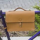 Classic Frame Satchel borsa per bicicletta borsa in vera pelle Miele tan bici