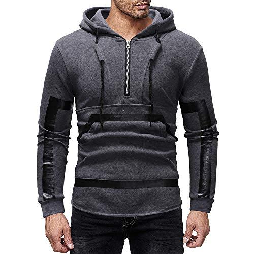 Aoogo Herren Herbst Winter Mode Lässig Gedruckt Reißverschluss Mit Kapuze Tasche Sweatshirt Tops Lässig Gedruckt Reißverschluss Hoodie