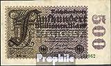 Deutsches Reich Rosenbg: 109f, Wasserzeichen Ringe 6stellige Kontrollnummer gebraucht (III) 1923 500 Millionen Mark (Banknoten für Sammler)