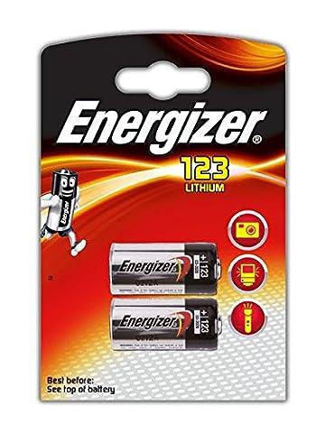 Energizer CR123A 2 Pile 3V Lithium