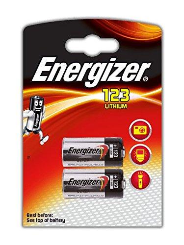 Energizer Original Spezialbatterie Lithium Foto CR123A (3 Volt, 2-er Pack)