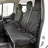 UK Custom Covers SC102B Tailored Heavy Duty Waterproof Front Seat Covers Single/Double - Black