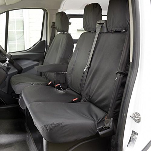 UK Custom Covers SC102UKCCBLACK Tailored Front Seat Covers, Black