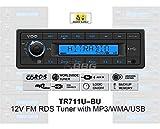 VDO 12 Volt PKW Auto Radio, RDS-Tuner, MP3, WMA, USB, 12V TR711U-BU