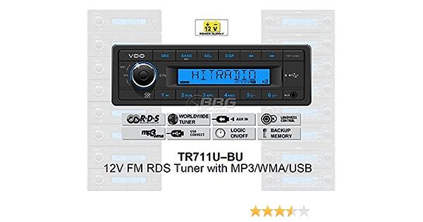 Vdo 12 Volt Pkw Auto Radio Rds Tuner Mp3 Wma Usb Elektronik