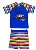 SurfitBoys'à rayure bleu short et t-shirt à manches courtes pour femme Motif rayures Multicolore Taille M 4–5 ans