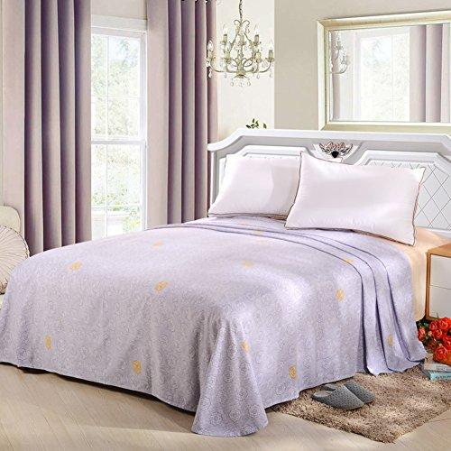 qwert Reiner Baumwolle Bett schleifblätter Einzigen Winter Simple Sheets Wohnheim bettwäsche Doppel-Bett-Blatt-F 270x245cm(106x96inch) (X 106 96 Bettbezug)