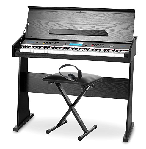 Pianoforte digitale FunKey DP-61, incluso supporto, panchetta e cuffie