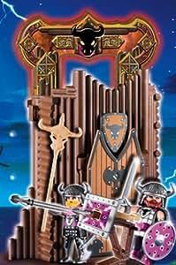 Playmobil 4774 - Jeu de construction : La Citadelle des Barbares ( transportable ) avec 2 Personnages