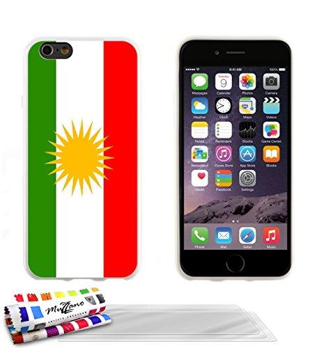 Ultraflache weiche Schutzhülle APPLE IPHONE 6 PLUS 5.5 POUCES [Flagge Kurdistan] [Lila] von MUZZANO + STIFT und MICROFASERTUCH MUZZANO® GRATIS - Das ULTIMATIVE, ELEGANTE UND LANGLEBIGE Schutz-Case für Weiß + 3 Displayschutzfolien