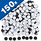 150 x Takkis Magnetplättchen selbstklebend rund - Ø 14mm x 0,9mm - Magnetpunkte genutzt um Fotos Poster Bilder Dokumente oder Deko-Elemente problemlos und schnell zu befestigen