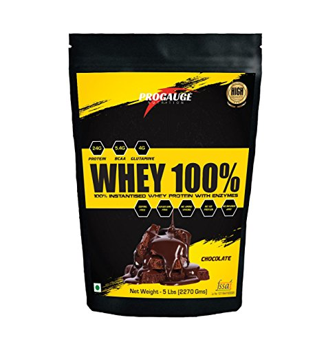 ProGauge Nutrition Whey 100% 5 lbs, Chocolate Flavour, 70 Servings