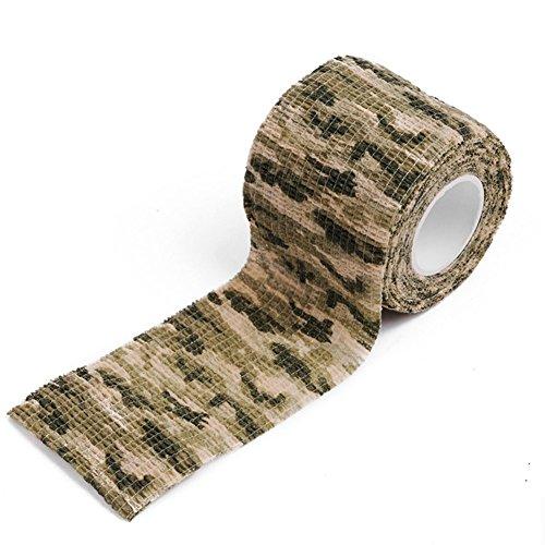 klebend Verband Camouflage Tape Camouflage Stealth Klebeband Jagd Camo Wasserdichte Zug Elastizität Klebeband Wraps Für Outdoor Wandern Camping Jagd Werkzeug Typ4 (Jagd Camo-blätter)