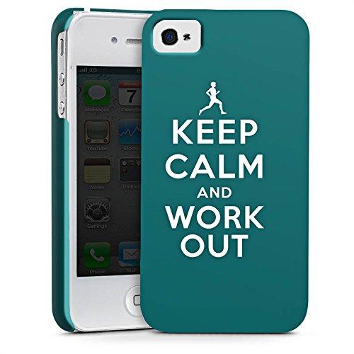 Apple iPhone X Silikon Hülle Case Schutzhülle Keep Calm Workout Spruch Premium Case glänzend