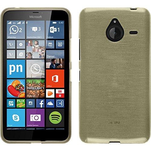 Funda de silicona para Microsoft Lumia 640 XL - brushed oro - Cover PhoneNatic Cubierta + protector de pantalla