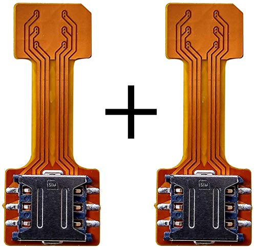 Hybrid SIM Slot Adapter to Run 2 and Micro SD Card Compatible for Samsung Galaxy S8 Plus-Pack of 2