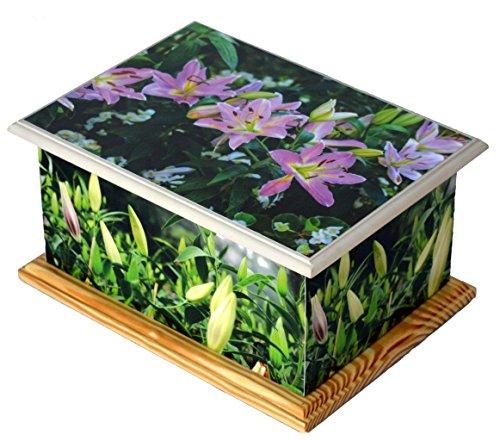 wood-cremation-ashes-casket-urn-mdf-and-teakwood-urn-funeral-memorial-remembrance-urn-pink-lily