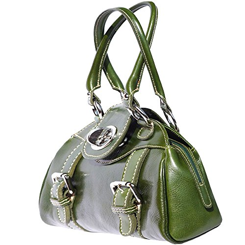 Sac à main porté épaule avec double lanière 6539 Vert