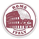 2 x 30cm/300 mm Rome Italie Autocollant de fenêtre en verre Voiture Van Locations #9176