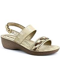 INBLU sandali ciabatte donna benessere ART GL20 ZEPPA sabbia sandals