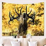 xkjymx Deer Wandtuch Hängen Tuch Hintergrund Tuch Malerei Tapisserie Wanddekoration Decke W180621-G041