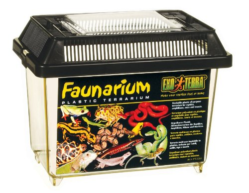 Exo Terra Faunarium mini - Allzweckbehälter für Reptilien, Amphibien, Mäuse und Insekten,18 x 12 x 14,5 cm -
