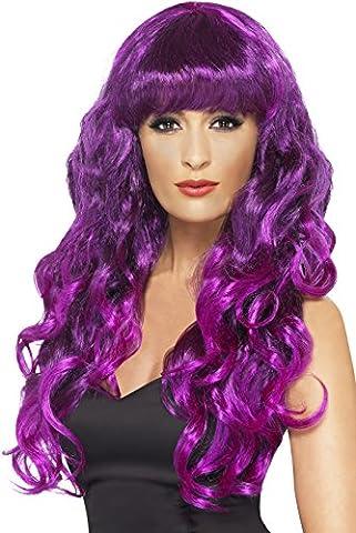 Doc Idées De Costumes - Smiffys Femme, Perruque de sirène, Violet, Cheveux