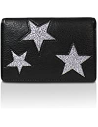 Glamexx24 Geldbörse mit Stern Muster PU Leder Portemonnaie Vintage Design Brieftasche Geldbeutel